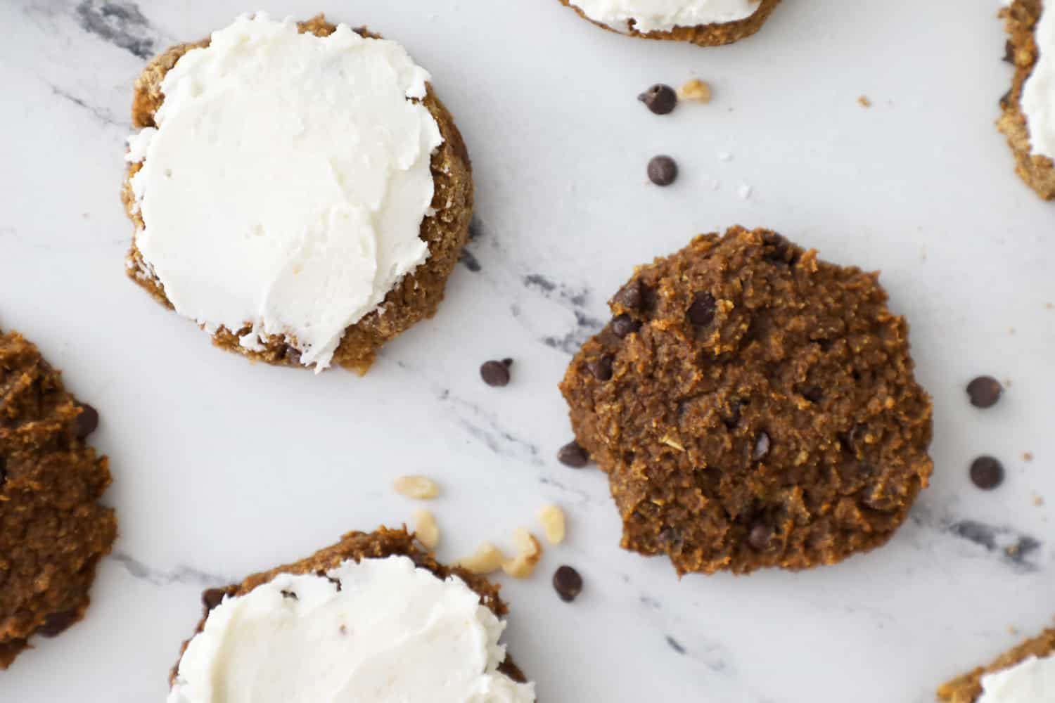 pumpkin cookies, some with frosting some without