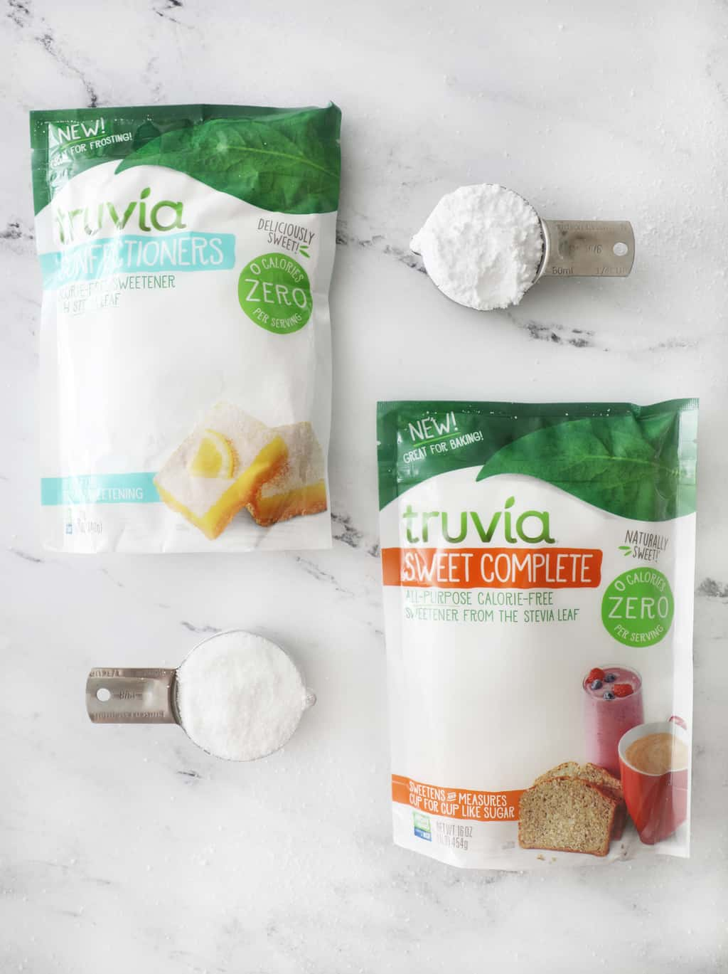 Truvia Sweet Complete compared to Truvia Confectioners