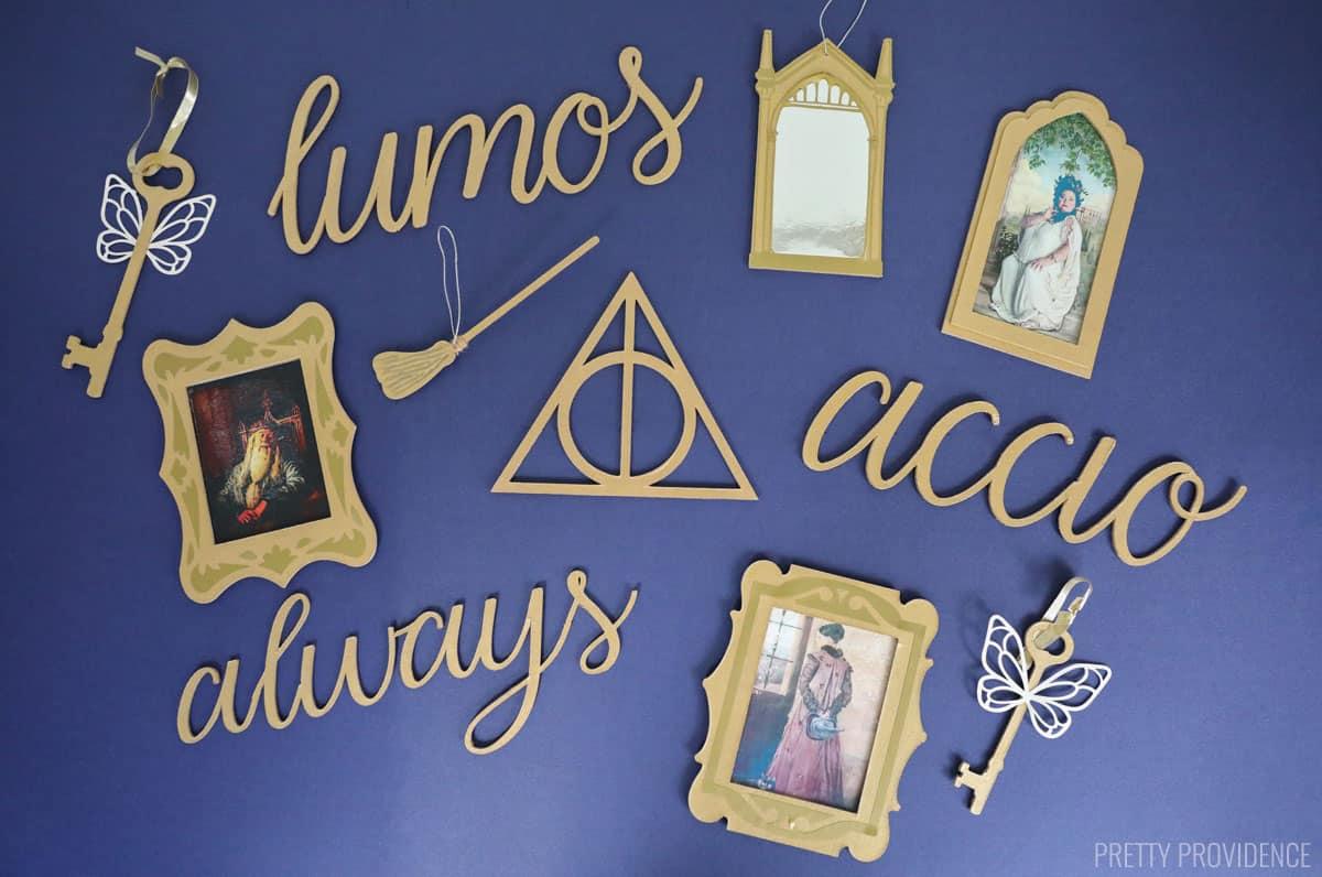 Ornements de Noël Harry Potter or