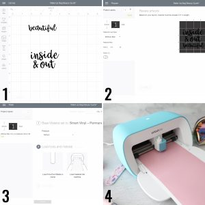 steps for creating label in design space