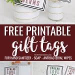 Free printable gift tags for soap, hand sanitizer, antibacterial wipes