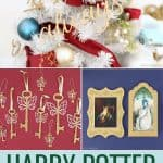 Collage of Harry Potter Christmas ornaments
