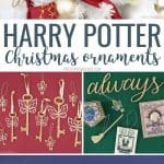Collage of Harry Potter Christmas ornametns
