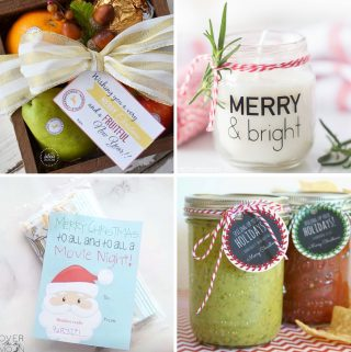 Collage of Easy Christmas Neighbor Gift ideas