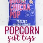 Popcorn gift tags photo with text overlay