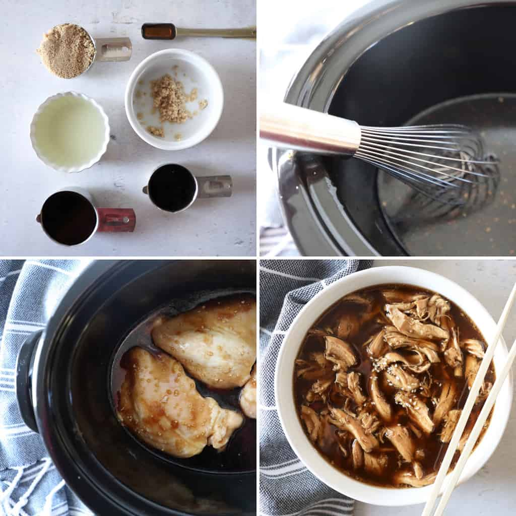 step by step images for how to make teriyaki chicken in a collage