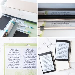 step by step for writing gratitude journal instructions on yardstick with Cricut machines