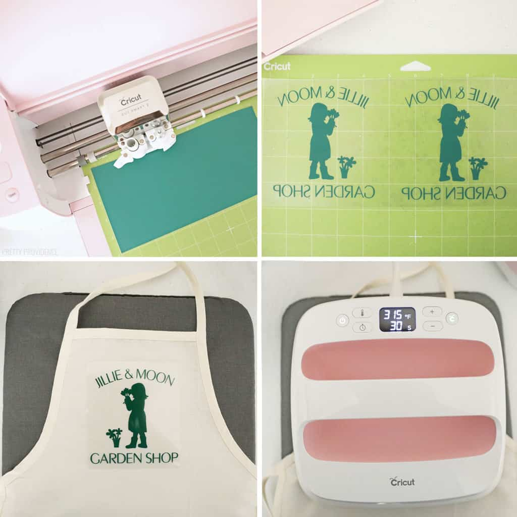 Cricut iron-on apron for kids
