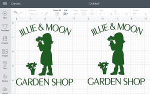 Garden Shop design in Cricut Design Space