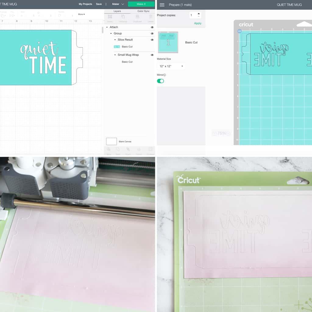 photos étape par étape expliquant comment faire une tasse personnalisée