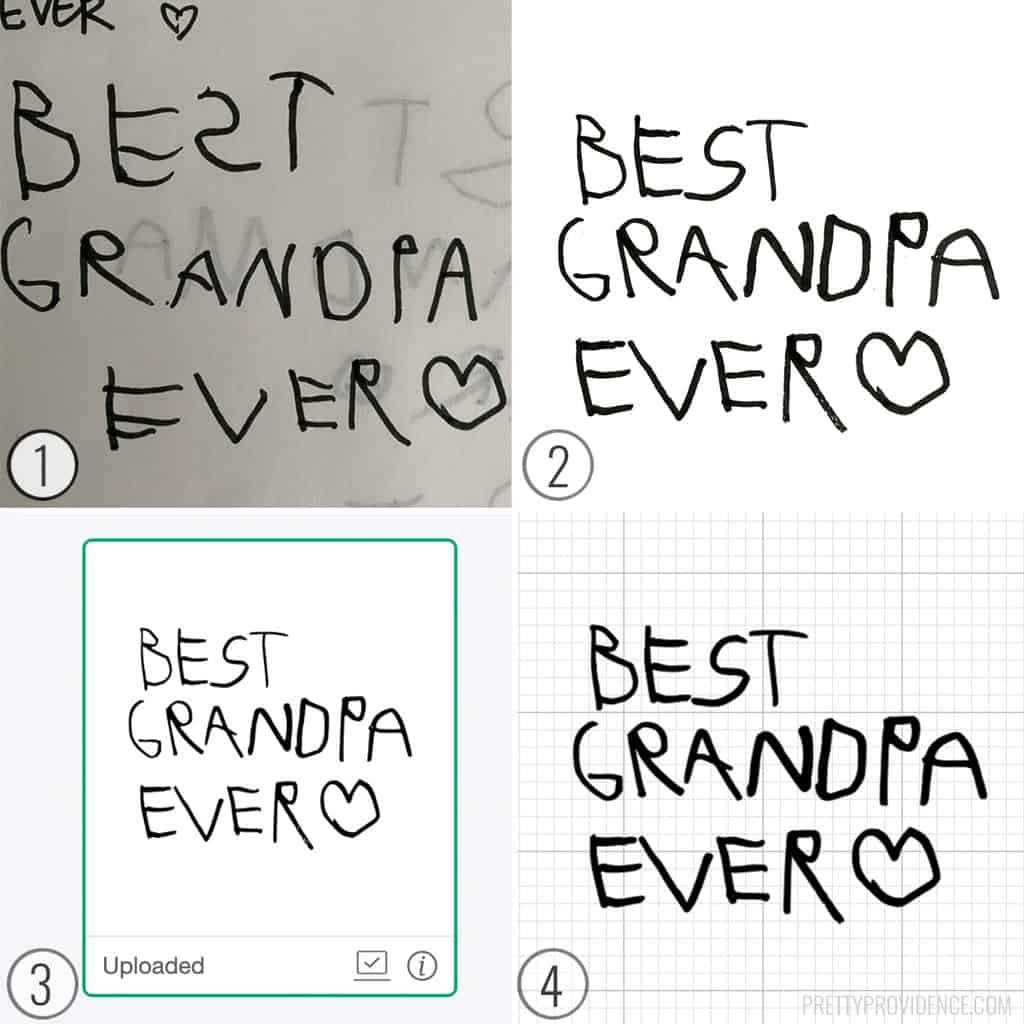 Collage how to turn handwriting into SVG cut file for Cricut