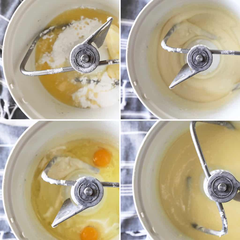 step by step photos showing how to make cookie dough
