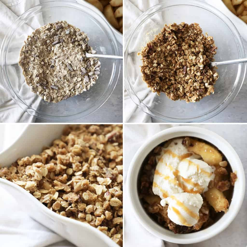 how to make the crisp for apple crisp photo collage