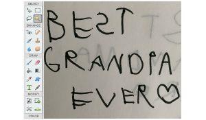 handwritten 'best grandpa ever' in photoshop elements