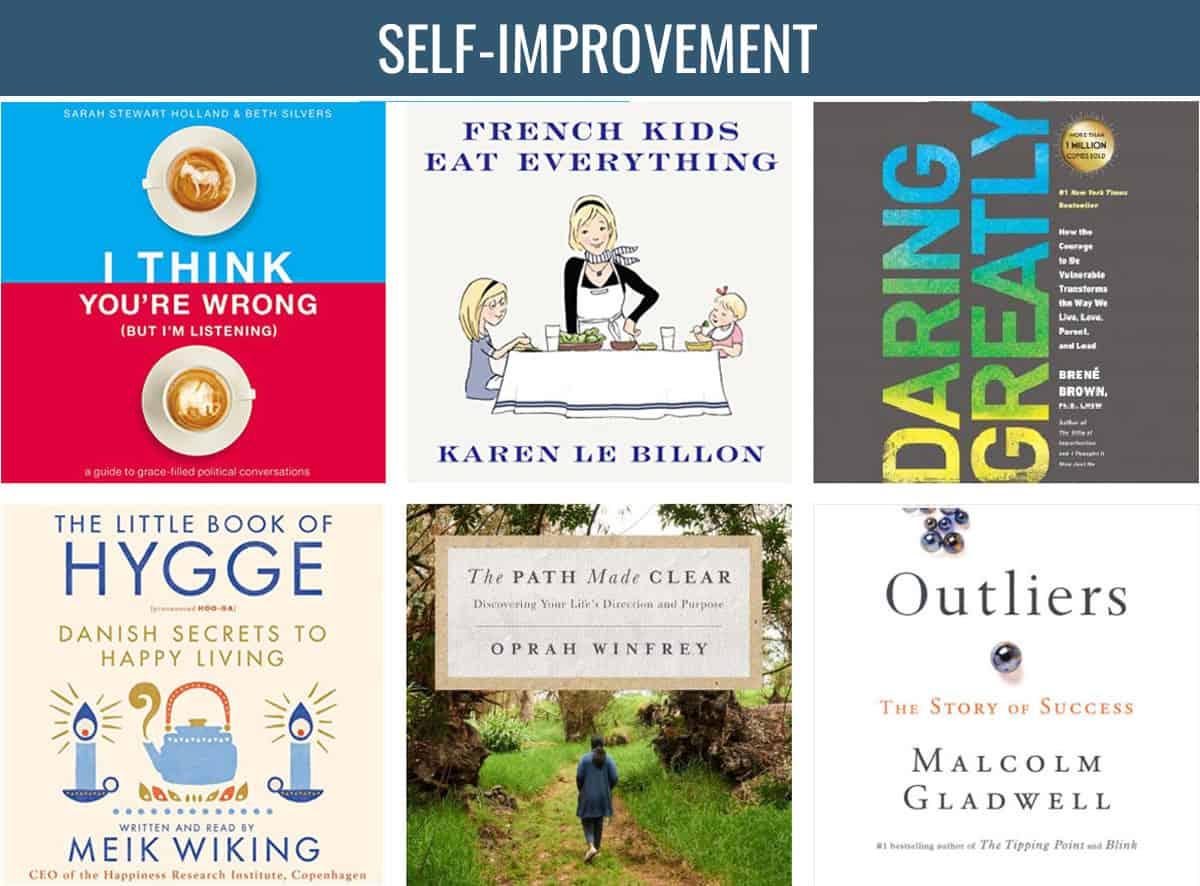 Collage of Self-Help books - book club ideas
