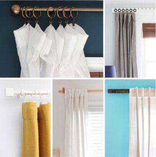Five different ideas for DIY curtain rods or hangings