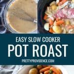 step by step photos for how to make a pot roast in a slow cooker