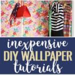 DIY temporary wallpaper tutorials collage