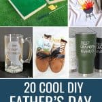 DIY Father's Day gifts pinterest collage