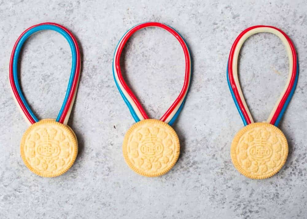 Licorice and golden oreo gold medals
