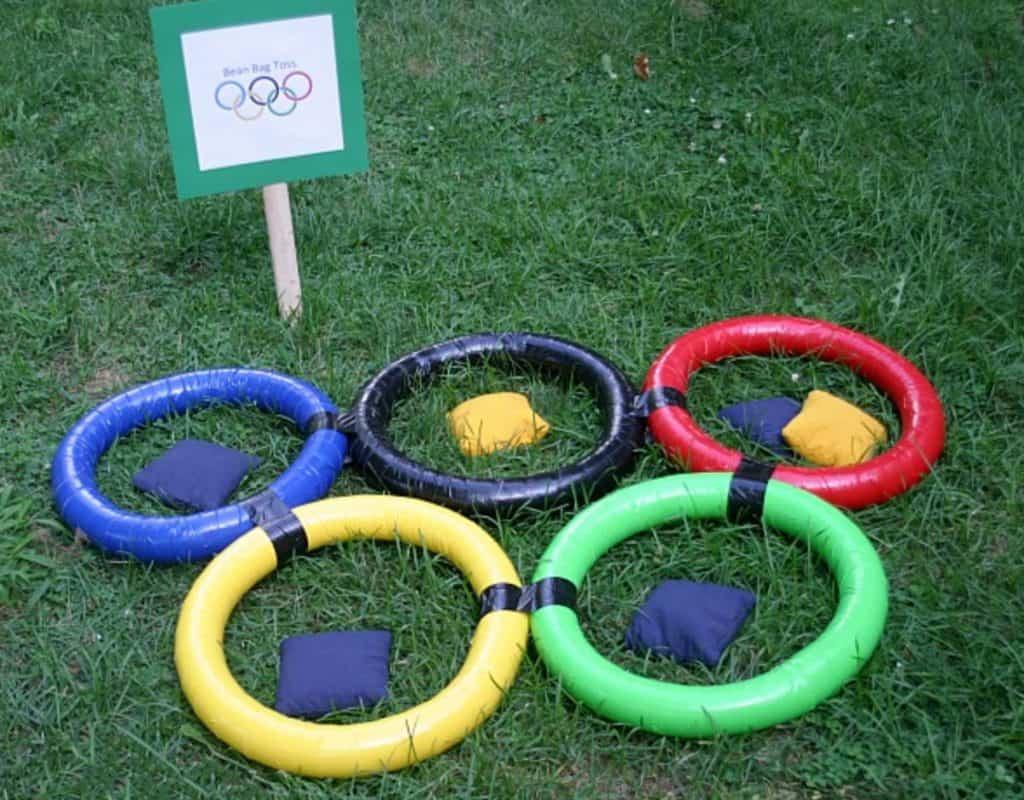 Olympic Rings Bean Bag Toss Game