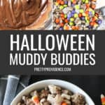 step by step photos for how to make halloween puppy chow optimized for pinterest